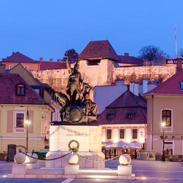 István Dobó Statue in Dobó Square