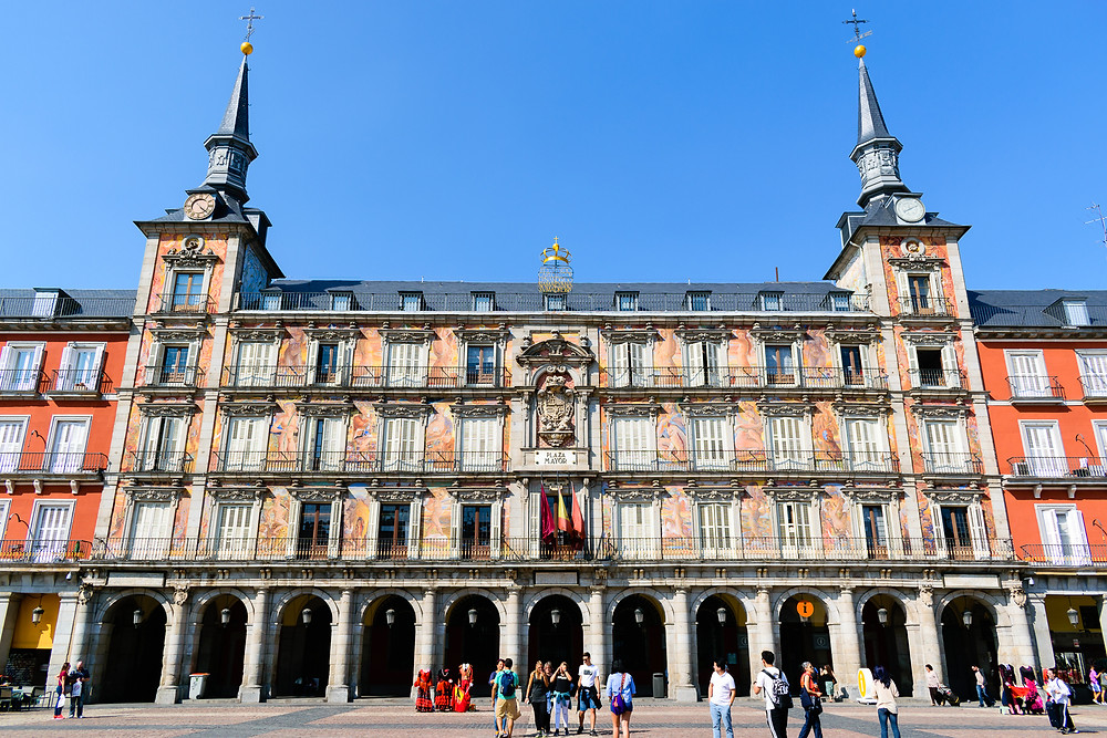 Casa de la Panaderia in Plaza Mayor, Madrid Spain, things to visit in Madrid