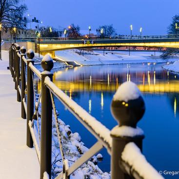 Győr in winter