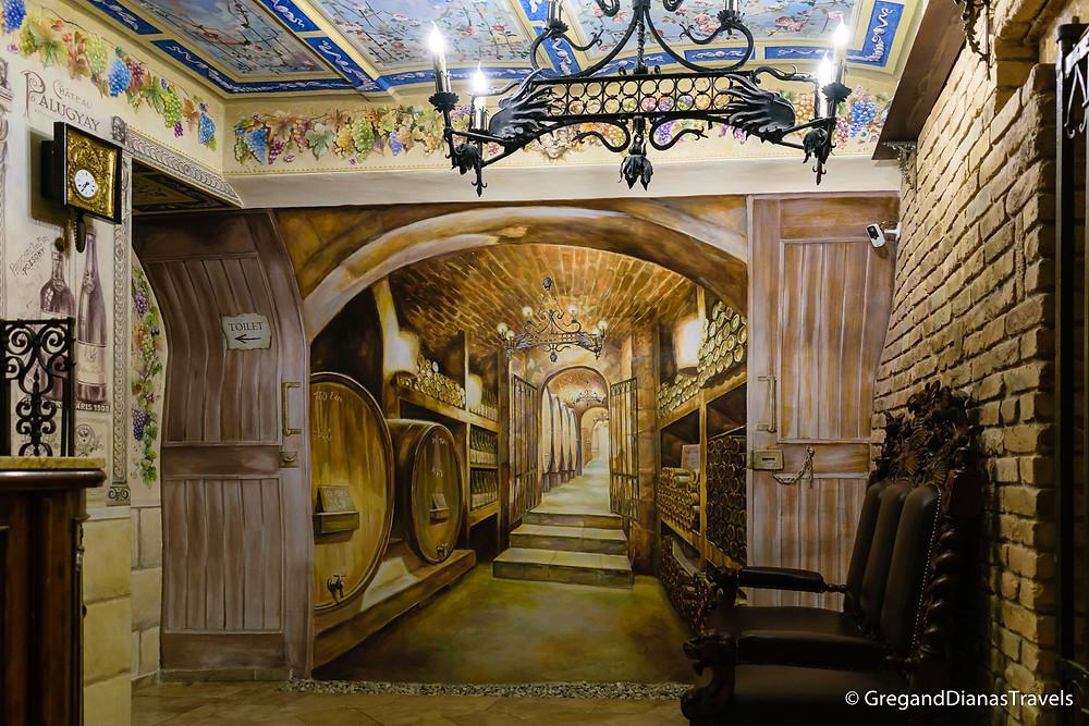3D painting of a cellar, Kormuth Patisserie Bratislava, Bratislava Slovakia, Travelblog