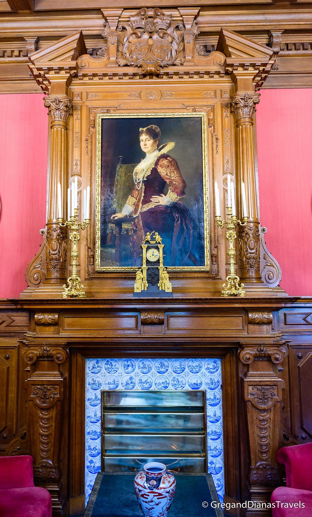 Portrait of Lady Mary Hamilton, Red Salon Festetics Castle, Keszthely Hungary, Travel blog, Travel blogger, Travel photography