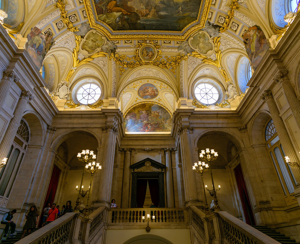 Grand Staircase, Grand Staircase of Royal Palace of Madrid, Royal Palace of Madrid, Architecture photography