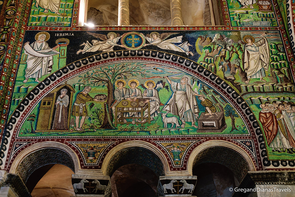 Mosaic decoration on the main walls in Basilica San Vitale