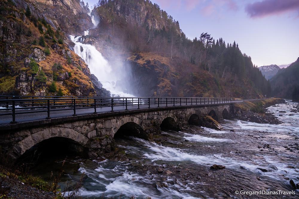 Latefossen Waterfall, Odda, Hordaland, Norway