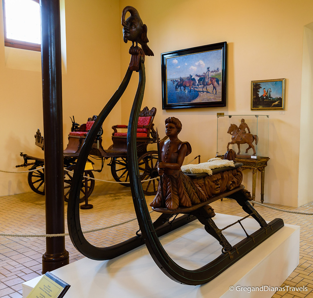 Sleigh from the 18th century, Coach Museum, Festetics Castle, Keszthely Hungary, Travel blog, Travel blogger, Travel photography