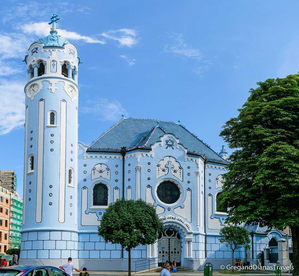 Blue Church, Bratislava Slovakia, Travel blog, Travel photography