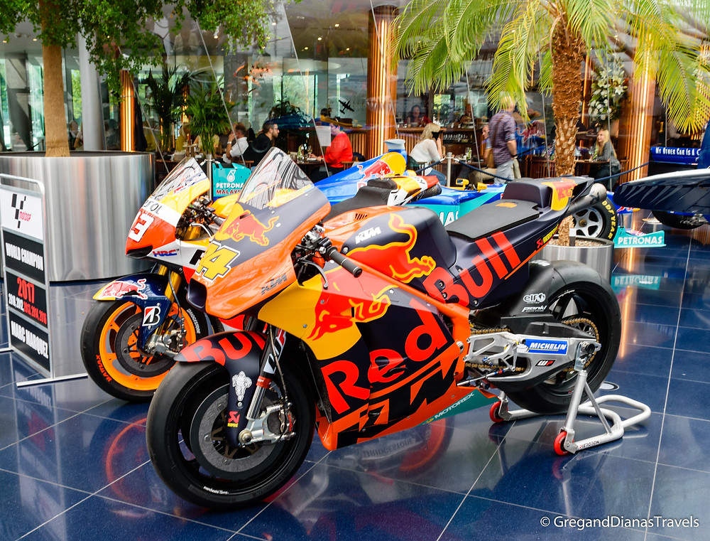 Moto GP race bikes, Salzburg Austria, Travel blog, Travel photography, Hangar-7 Salzburg, Red Bull Hangar-7