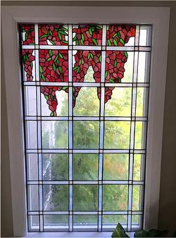 Custom stained glass window