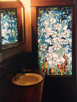 Bathroom window bouquet