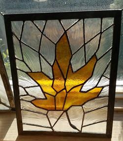 Maple leaf window hanging