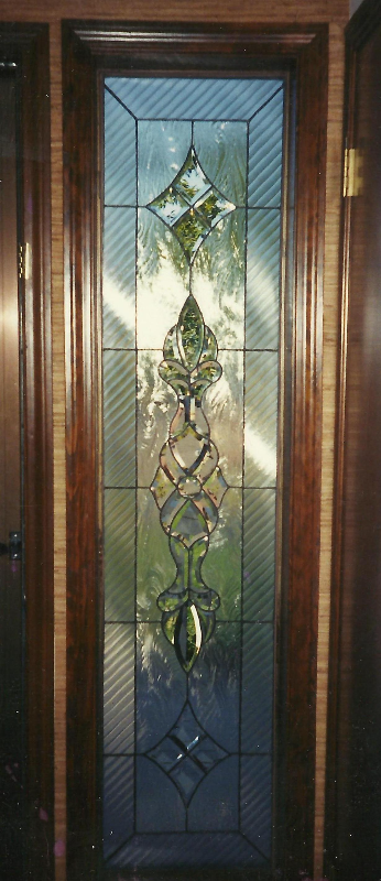 Stained glass door detail