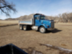 dump truck for hire,hauling, trenching,
