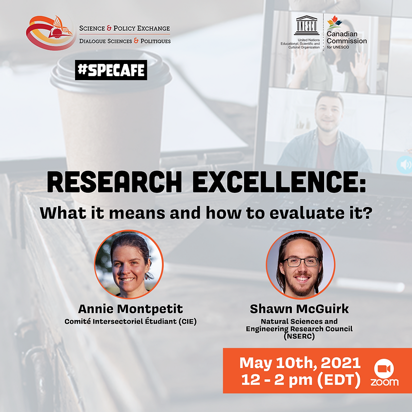 SPE Café: Research excellence: what it means and how to evaluate it?