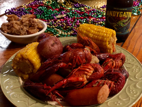 Crawfish Boil and Bread Pudding