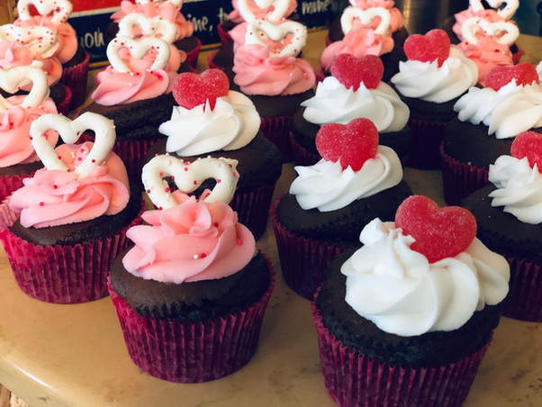 Sweet cupcakes for Valentine's Day