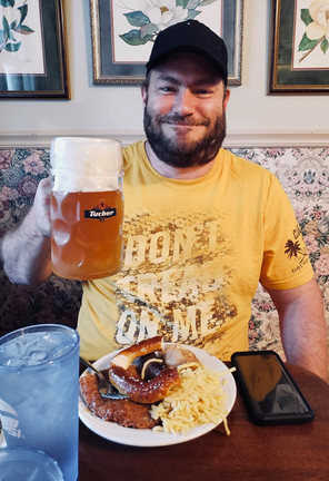 Customer enjoying a night of Oktoberfest