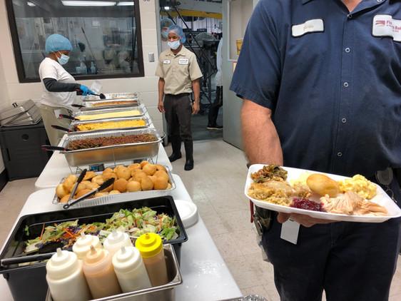 Christmas Dinner for 350 employees at Flowers Bakery