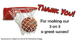 3 on 3 Thank you Banner