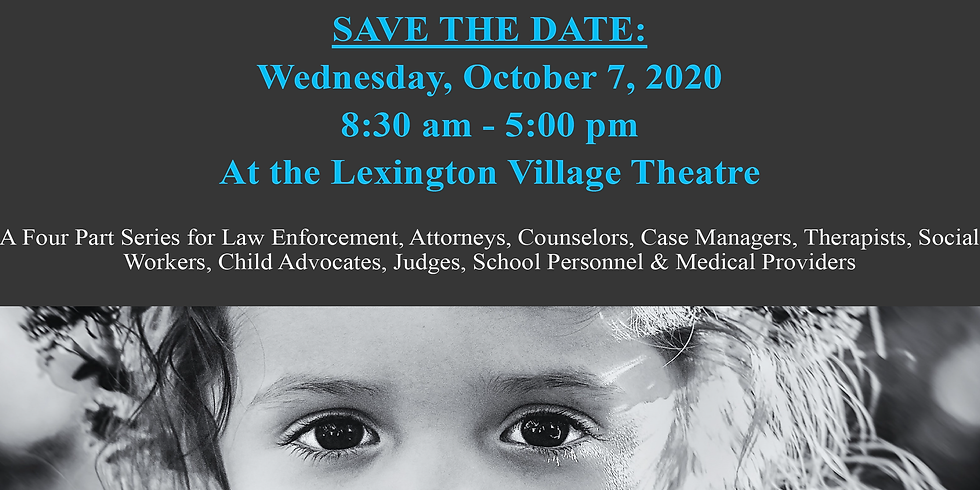 SAVE THE DATE!  Sex Offenders: Understanding & Responding to Sexual Crimes