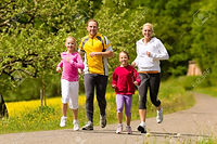 17657227-happy-family-with-two-girls-run