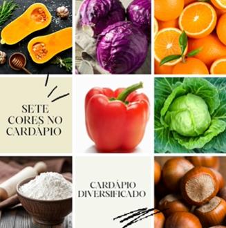 Paleta de cores na Alimentação