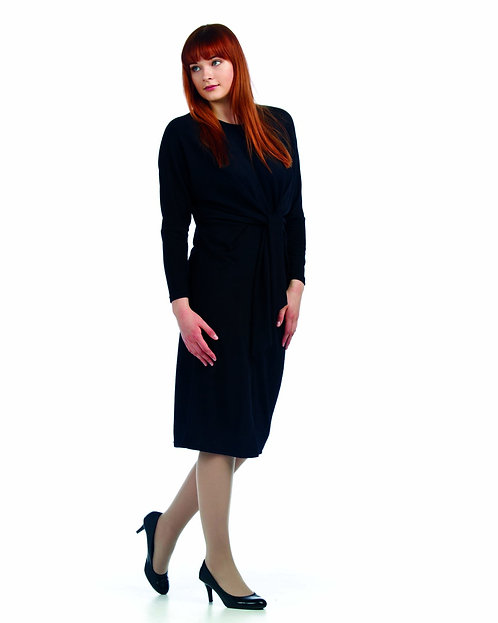 PAPILLION TIE FRONT DRESS BLACK