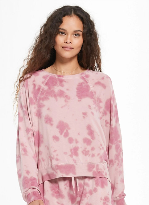 Z SUPPLY  SLEEP OVER TIE-DIE PULLOVER