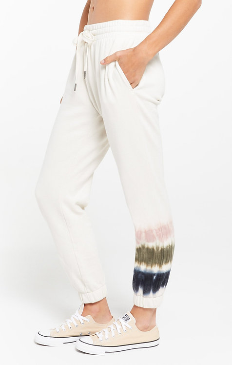 Z SUPPLY SELENE STRIPE TIE-DYE FLEECE JOGGER