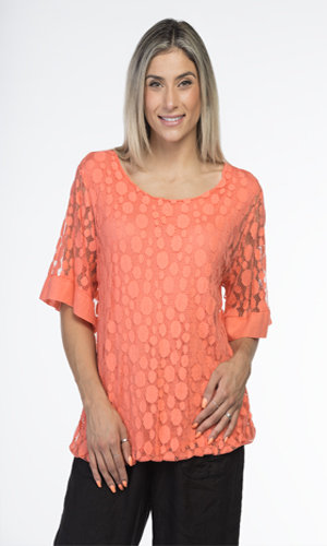 CHERISHH CORAL LACE TOP