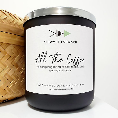 ARROW IT FORWARD ALL THE COFFEE 16oz CANDLE