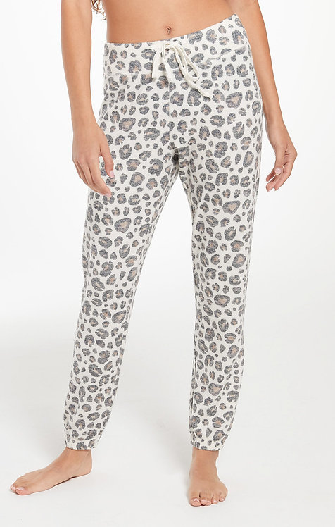 Z SUPPLY AVA BRUSHED SLUB LEOPARD JOGGER
