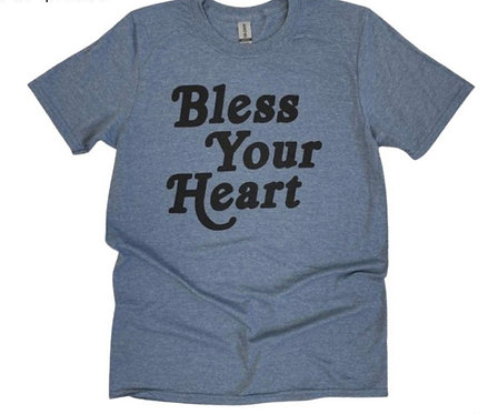 BLESS YOUR HEART TEE BLUE
