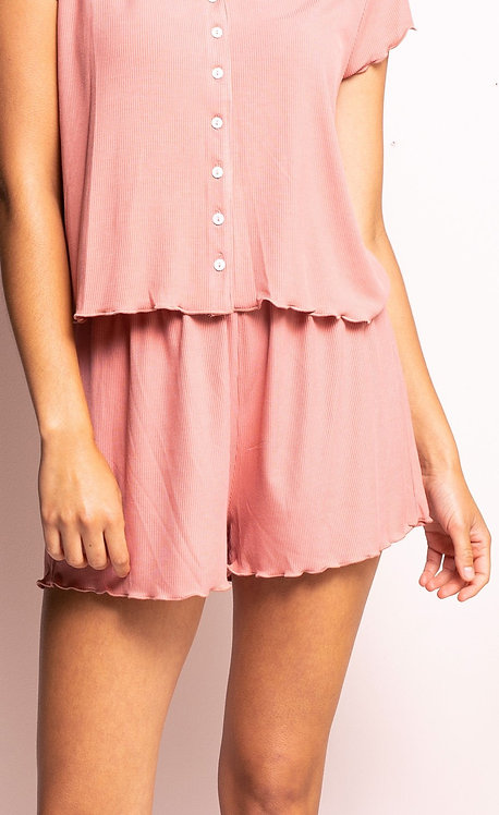 PINK MARTINI THE FLAVIE SHORT DUSTY PINK