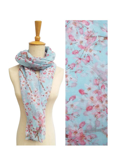 PASSIONS LIGHT WEIGHT MINT FLORAL SCARF