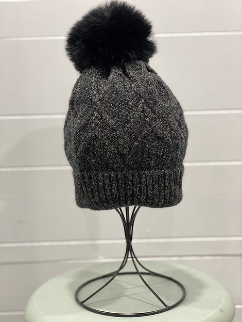 BLACK TOQUE WITH GOLD THROUGHOUT