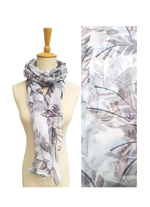 PASSIONS LIGHT WEIGHT SCARF LEAVES PRINT