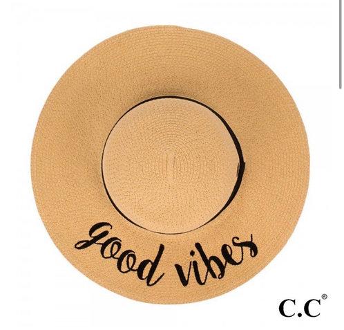 GOOD VIBES SUN HAT