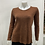 Thumbnail: CHERISHH BROWN SWEATER TOP WITH BACK BUTTONS