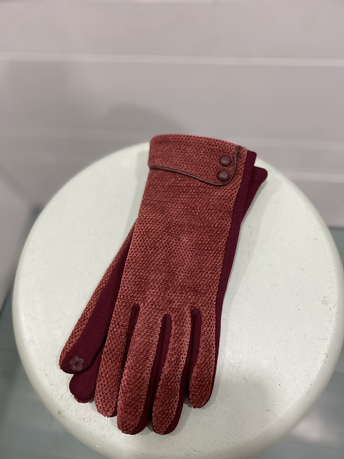 CHEIREE BLISS RED/ ORANGE TEXTING GLOVES