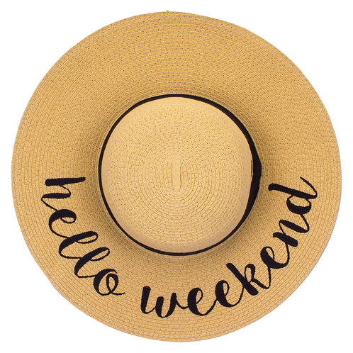 HELLO WEEKEND HAT