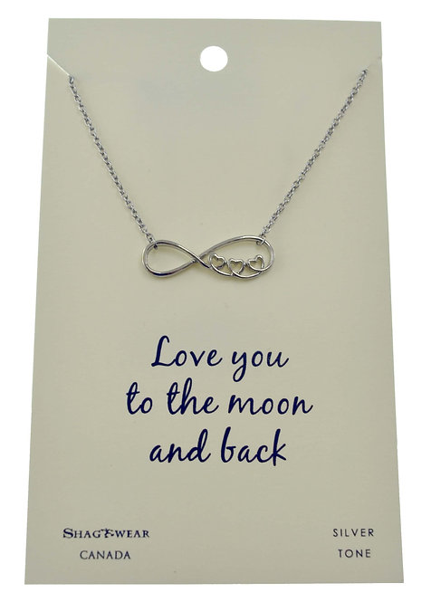 SHAGWEAR LOVE YOU TO THE MOON AND BACK NECKLACE