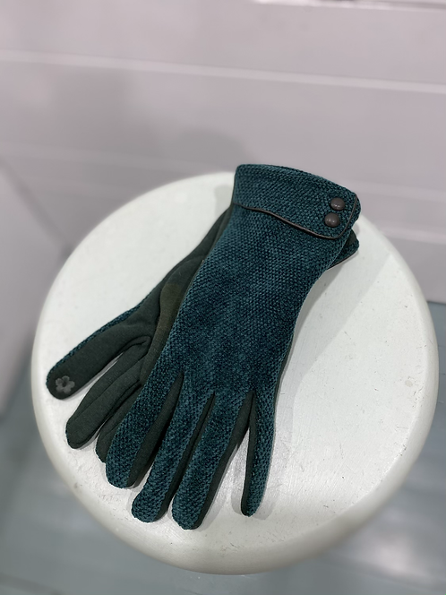 CHEIREE BLISS GREEN/ BLUE TEXTING GLOVES