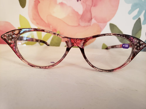 PINK JEWELED READERS +100
