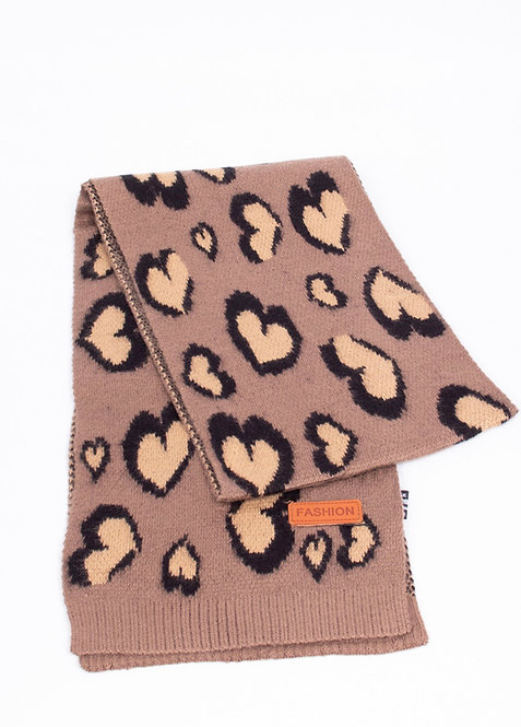 KIDS HEART SCARF TAUPE