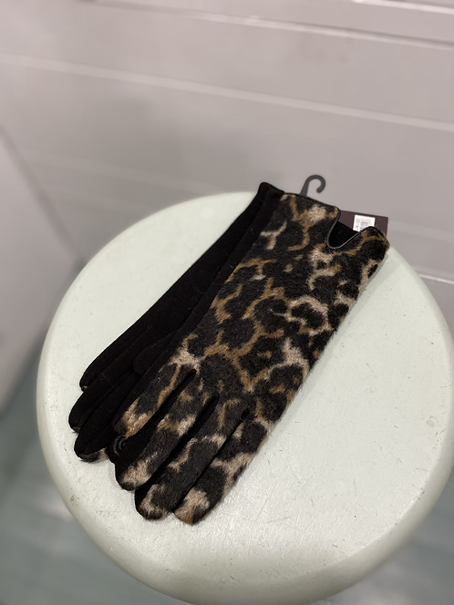 MEMORIES ANIMAL PRINT TEXTING GLOVES