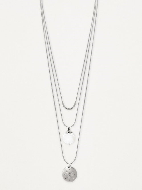 CARACOL SILVER LONG NECKLACE 1389