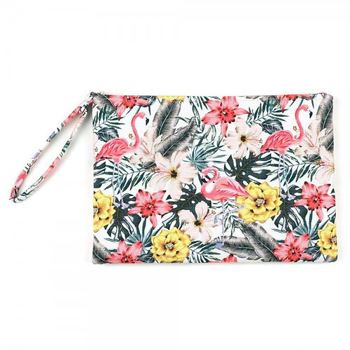 STYLINE ZIP UP COSMETIC BAG FLORAL