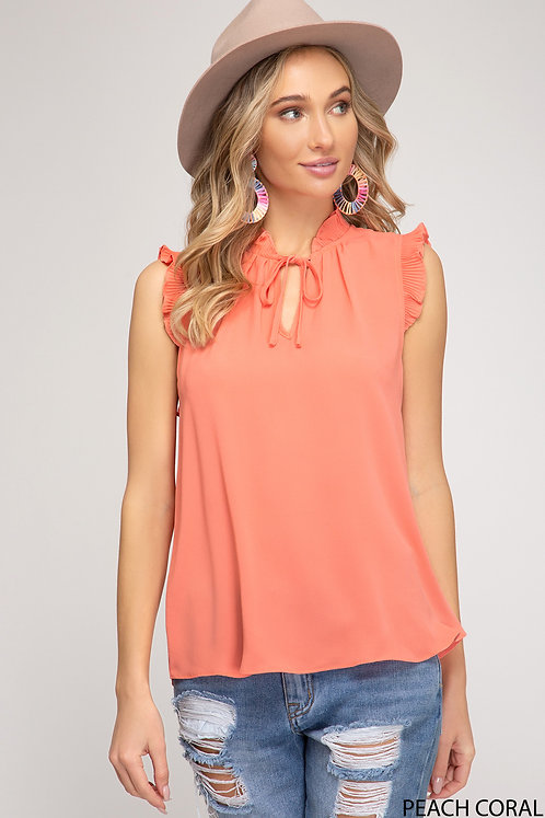SHE AND SKY TOP WITH NECK STRAP DETAIL
