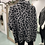 Thumbnail: PICABO BLACK AND GREY LEOPARD CAPE WITH SLEEVES