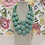 Thumbnail: LARGE TEAL NECKLACE LAYERD WITH EARRINGS